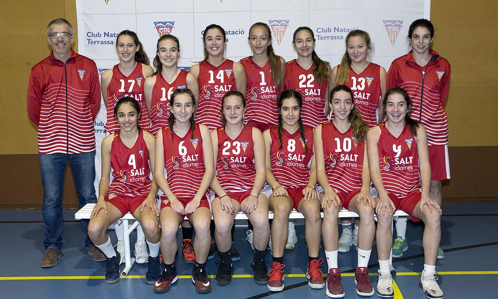 Equip de Bàsquet Cadet Femení B del Club Natació Terrassa