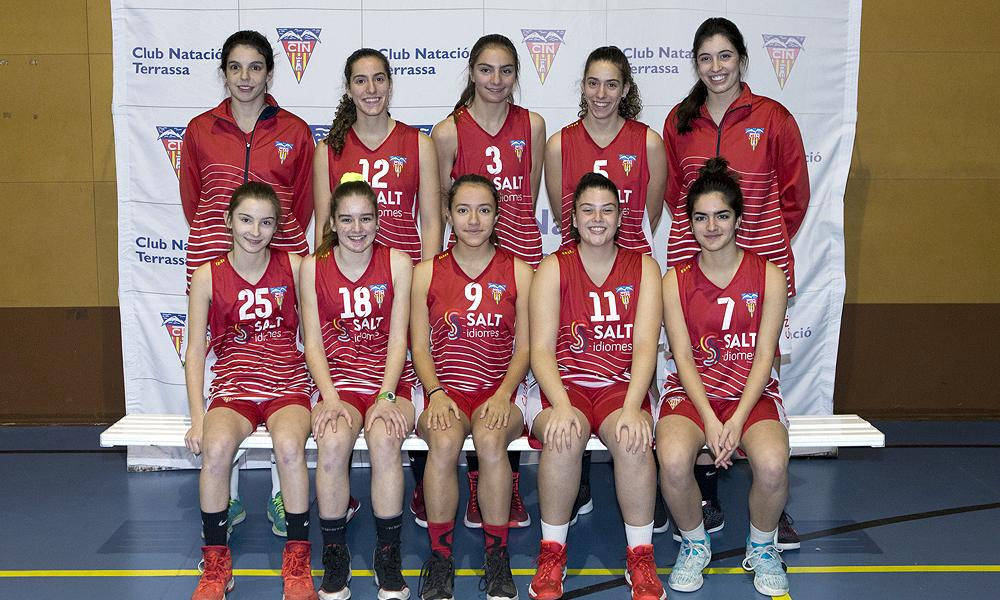 Equip de Bàsquet Cadet Femení C del Club Natació Terrassa