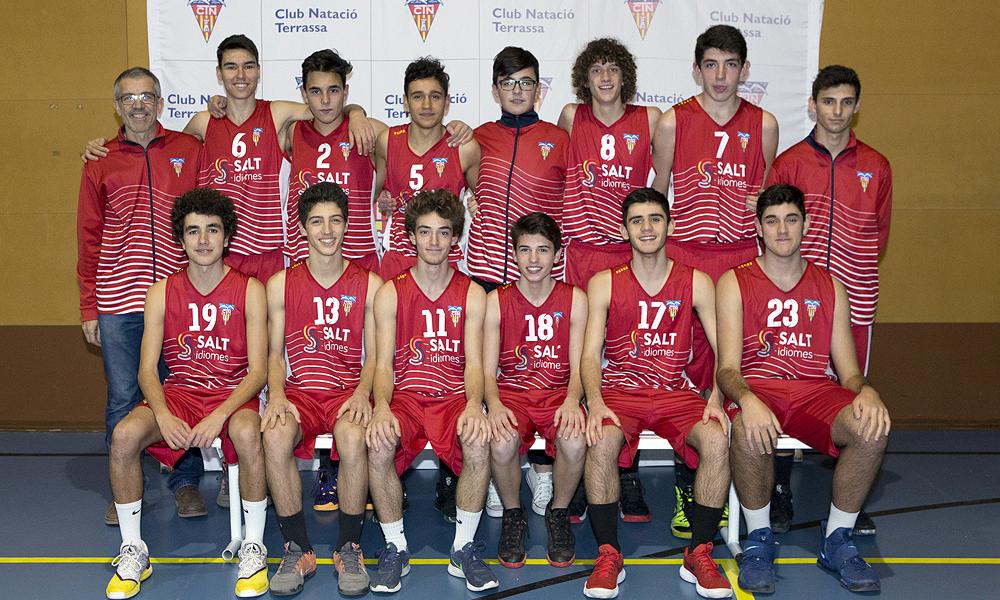 Equip de Bàsquet Cadet Masculí A del Club Natació Terrassa