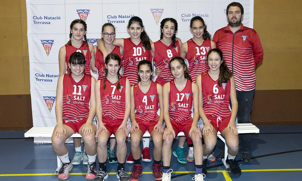 Equip de Bàsquet Infantil Femení A del Club Natació Terrassa