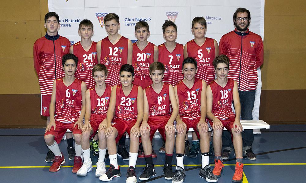 Equip de Bàsquet Infantil Masculí A del Club Natació Terrassa