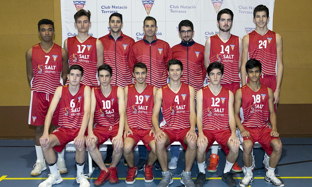 Equip de Bàsquet Júnior Masculí A del Club Natació Terrassa