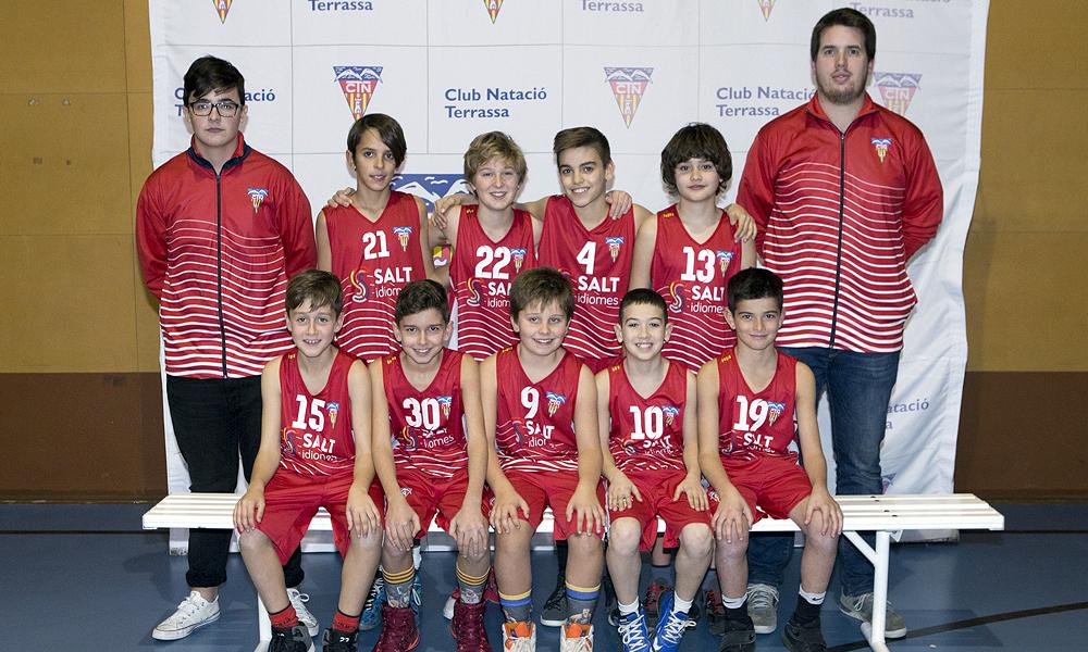Equip de Bàsquet Mini Masculí A del Club Natació Terrassa