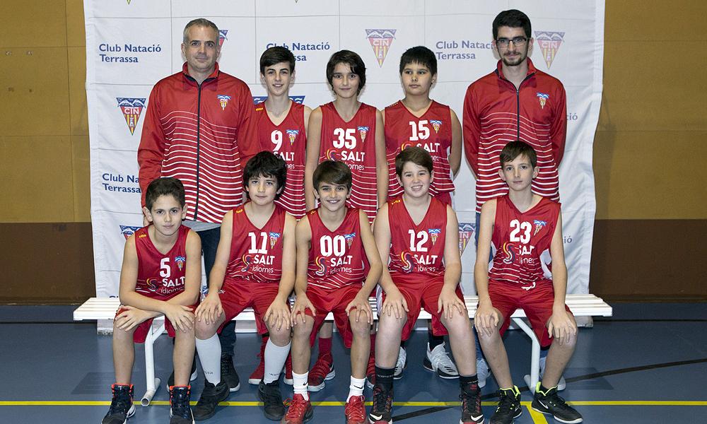 Equip de Bàsquet Preinfantil Masculí A del Club Natació Terrassa