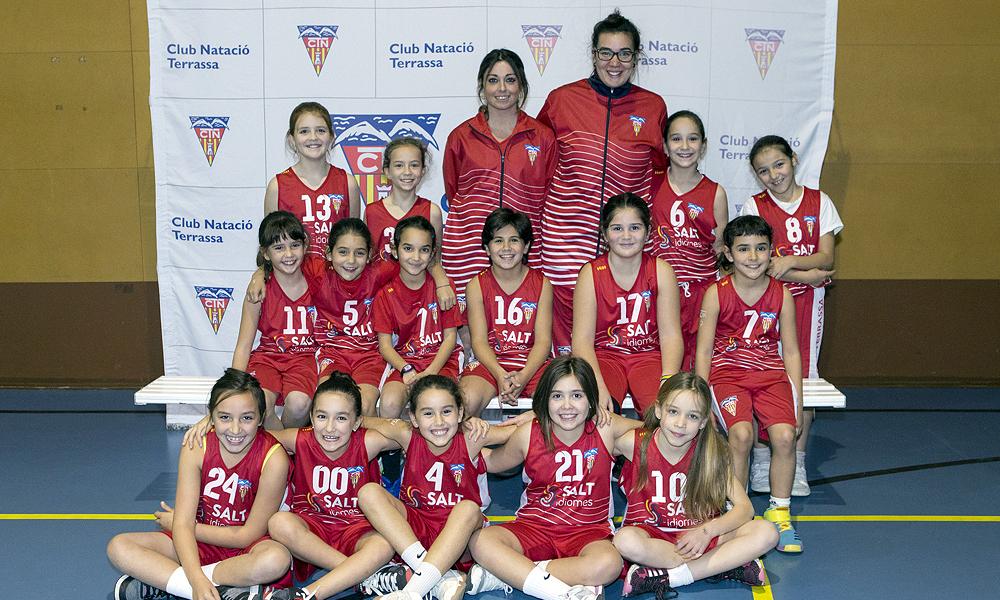 Equip de Bàsquet Premini Femení del Club Natació Terrassa