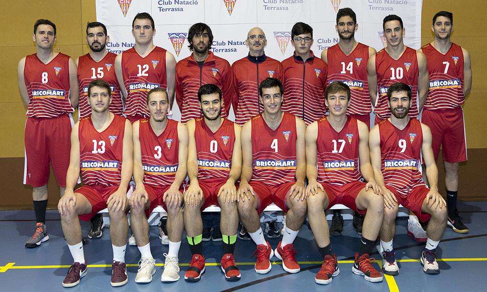 Equip de Bàsquet Sénior Masculí A del Club Natació Terrassa