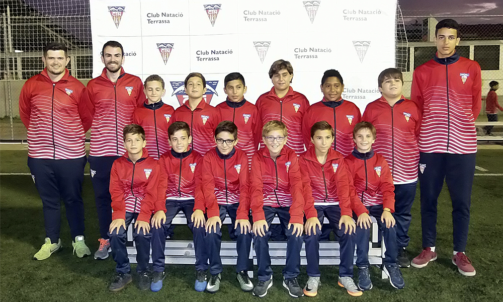 Equip de Futbol Aleví C del Club Natació Terrassa