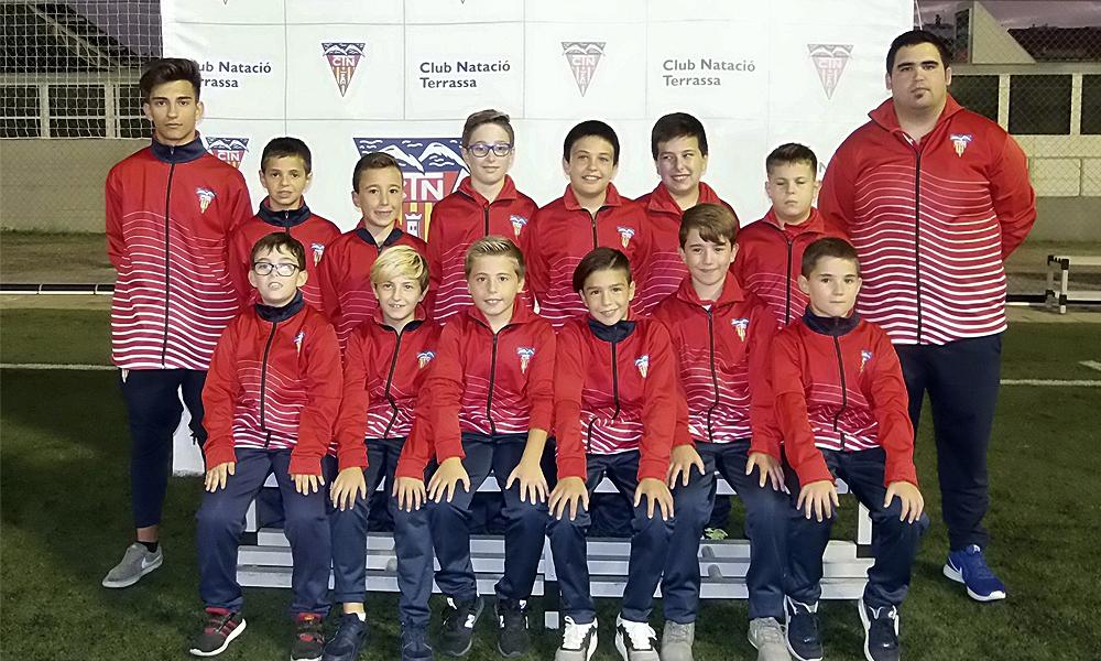 Equip de Futbol Aleví E del Club Natació Terrassa