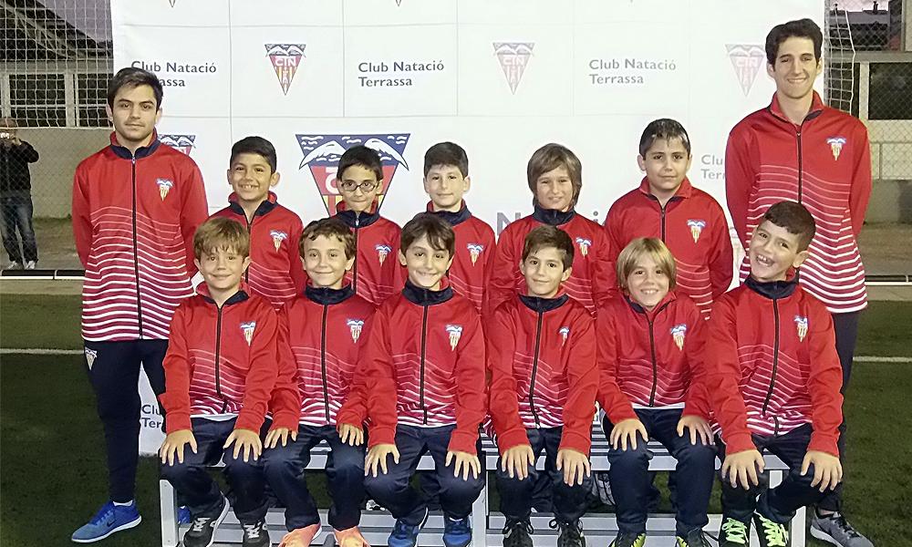 Equip de Futbol Benjamí B del Club Natació Terrassa