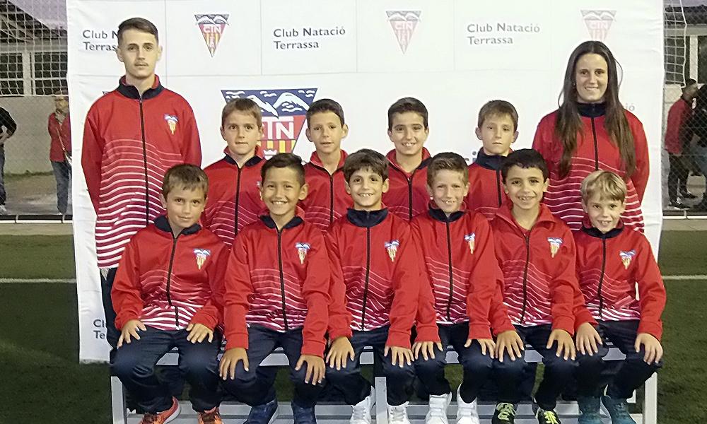 Equip de Futbol Benjamí C del Club Natació Terrassa