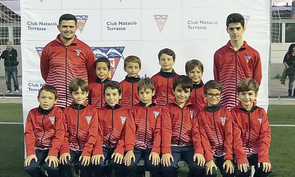 Equip de Futbol Benjamí D del Club Natació Terrassa