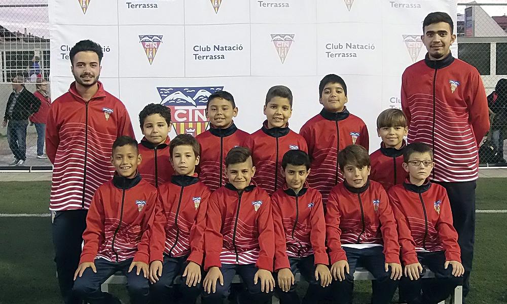 Equip de Futbol Benjamí E del Club Natació Terrassa