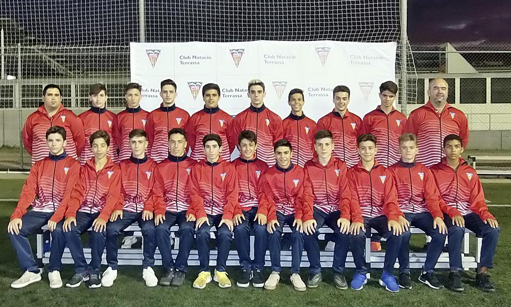 Equip de Futbol Cadet B del Club Natació Terrassa