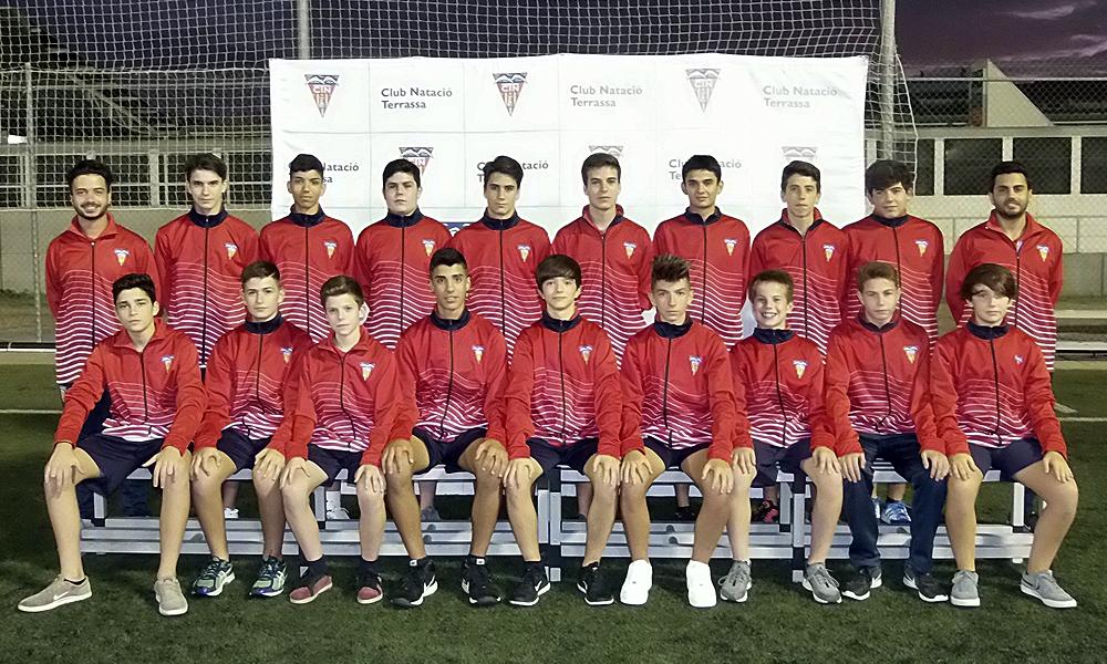 Equip de Futbol Cadet C del Club Natació Terrassa