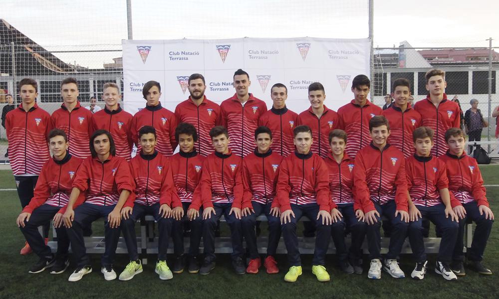 Equip de Futbol Infantil A del Club Natació Terrassa