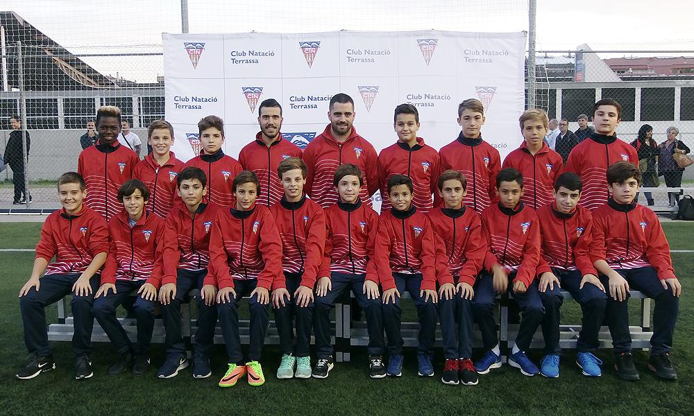 Equip de Futbol Infantil B del Club Natació Terrassa