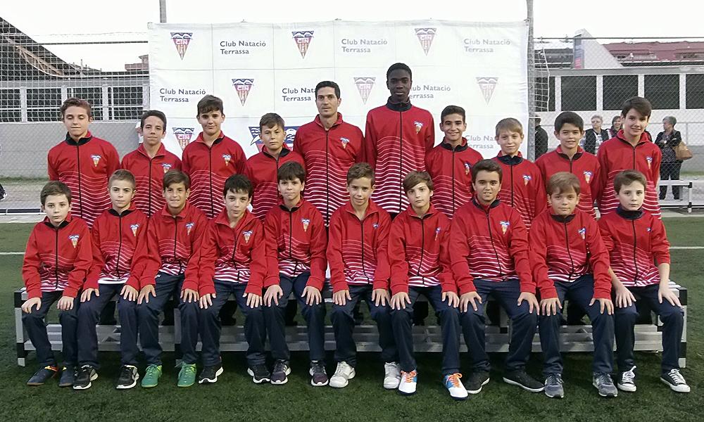 Equip de Futbol Infantil D del Club Natació Terrassa