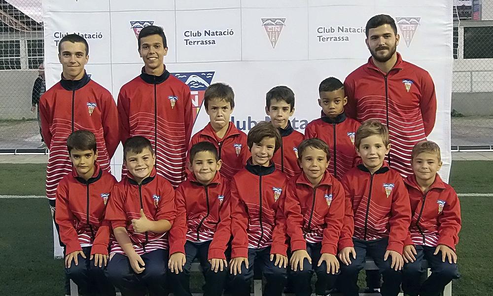 Equip de Futbol Prebenjamí A del Club Natació Terrassa