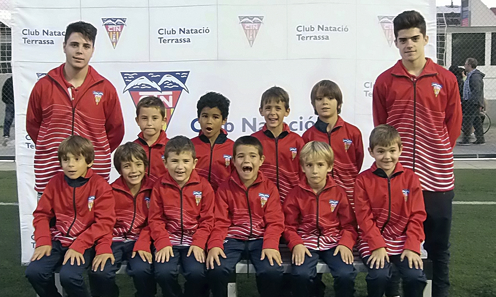 Equip de Futbol Prebenjamí B del Club Natació Terrassa