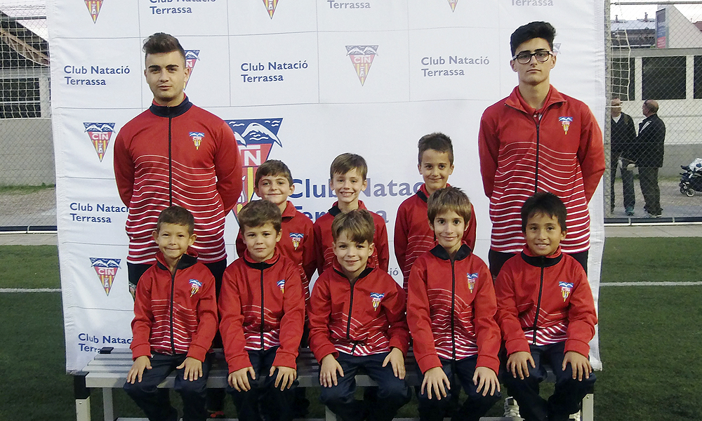 Equip de Futbol Prebenjamí C del Club Natació Terrassa