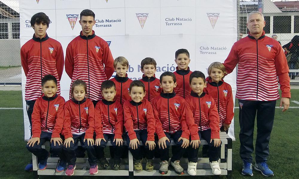 Equip de Futbol Prebenjamí D del Club Natació Terrassa