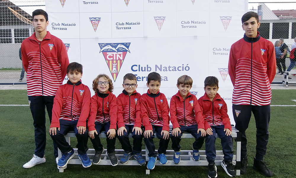 Equip de Futbol Prebenjamí E del Club Natació Terrassa