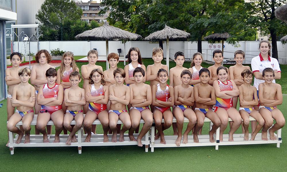 Equip de Waterpolo Benjamí Mixte A-B del Club Natació Terrassa