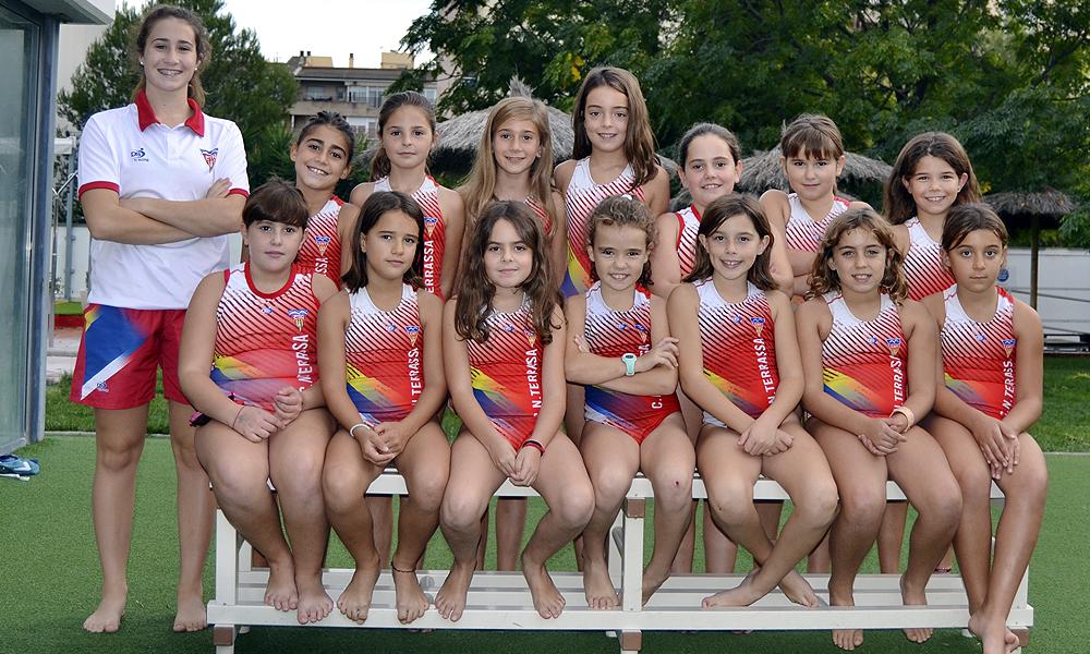 Equip de Waterpolo Benjamí Femení del Club Natació Terrassa