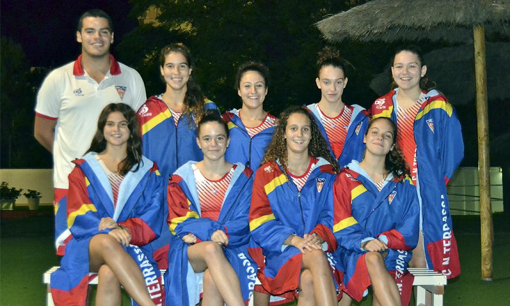 Equip de Waterpolo Cadet Femení del Club Natació Terrassa