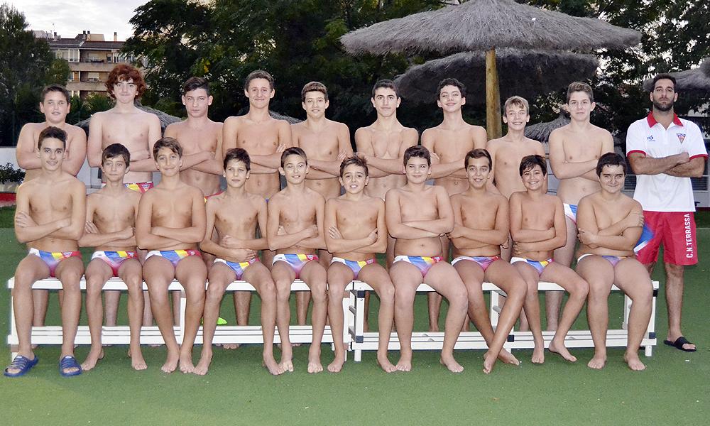 Equip de Waterpolo Infantil Masculí del Club Natació Terrassa