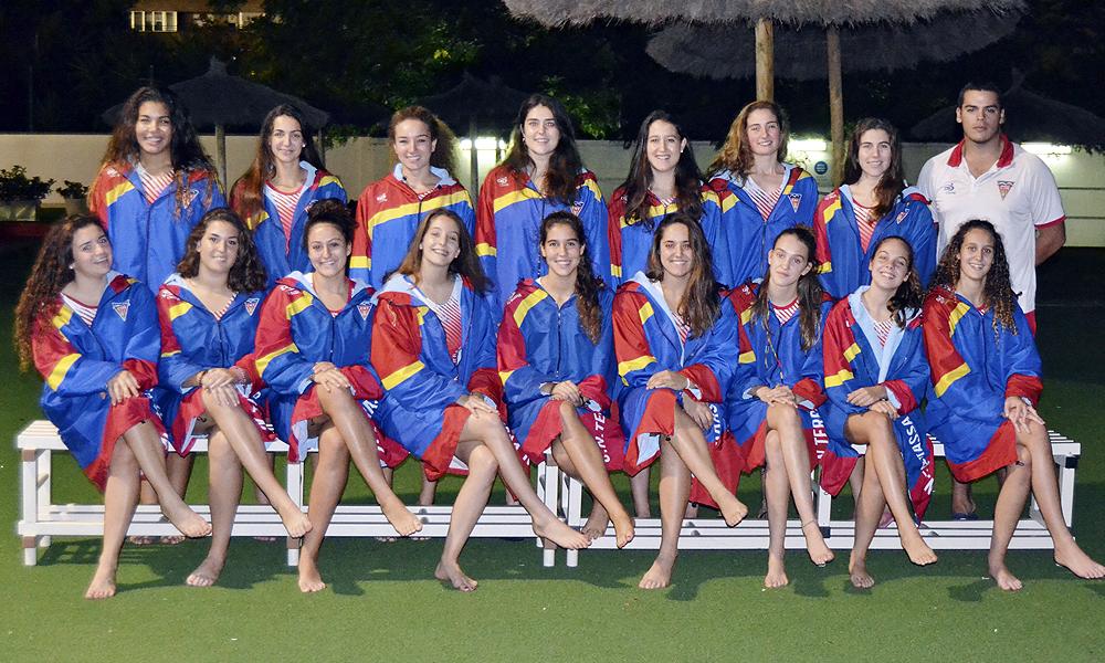 Equip de Waterpolo Júnior Femení del Club Natació Terrassa