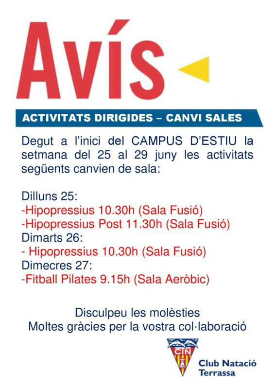 Avis_canvi_sala_activitats_Campus_Estiu