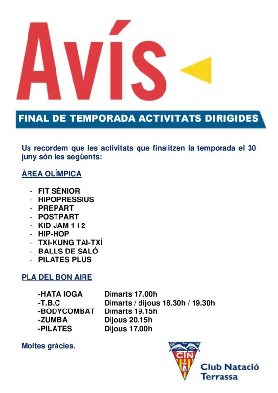 Avis_final_temporada_activitats_dirigides