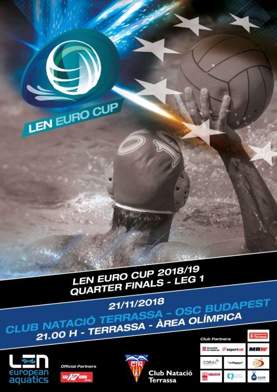 Cartell partit LEN Euro Cup OSC Budapest