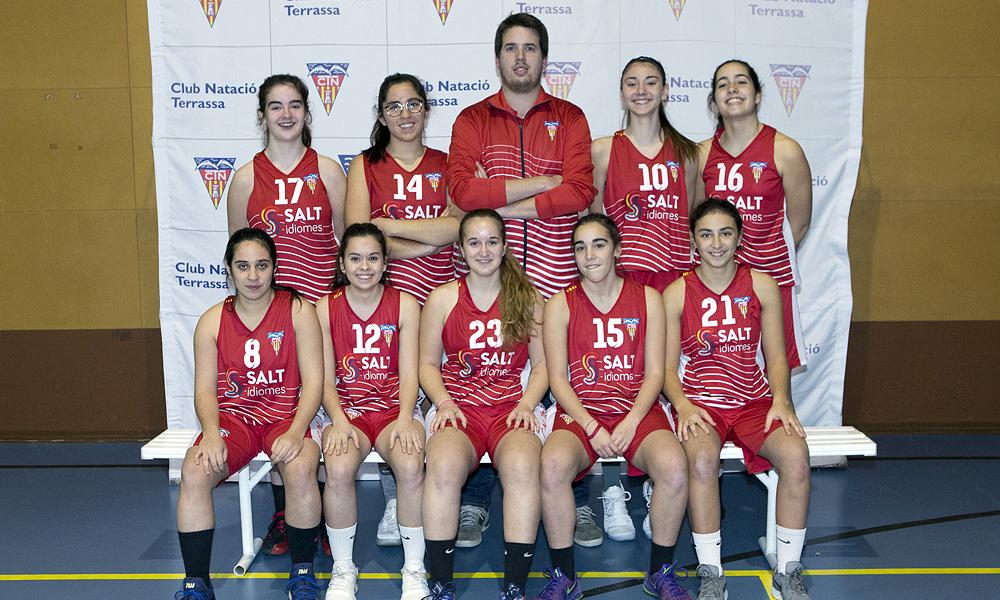 Equip de Bàsquet Cadet Femení A del Club Natació Terrassa