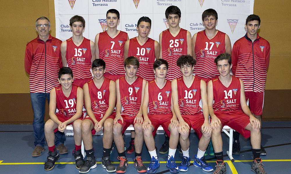 Equip de Bàsquet Cadet Masculí B del Club Natació Terrassa