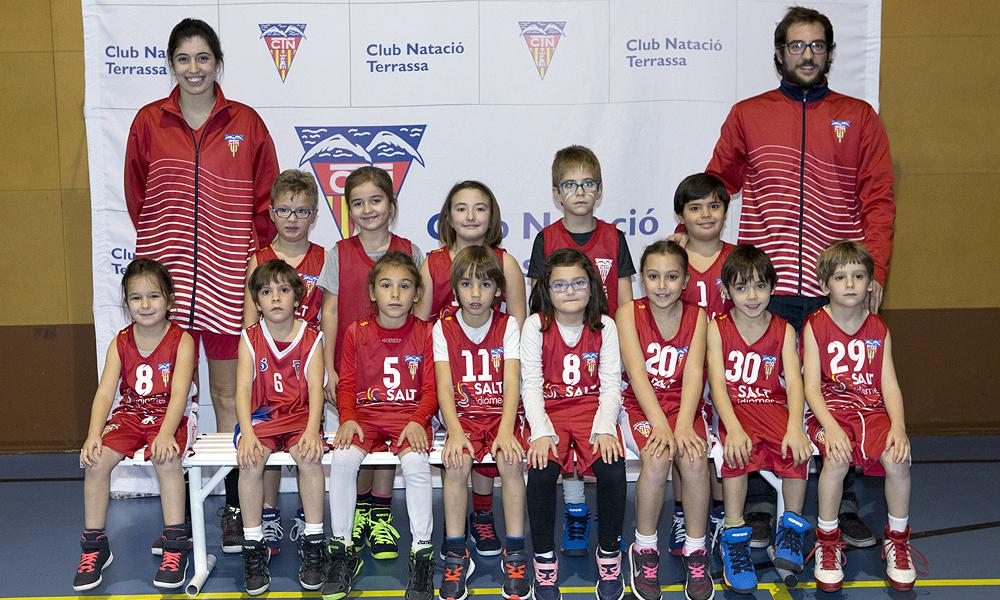 Equip de Bàsquet Escola del Club Natació Terrassa