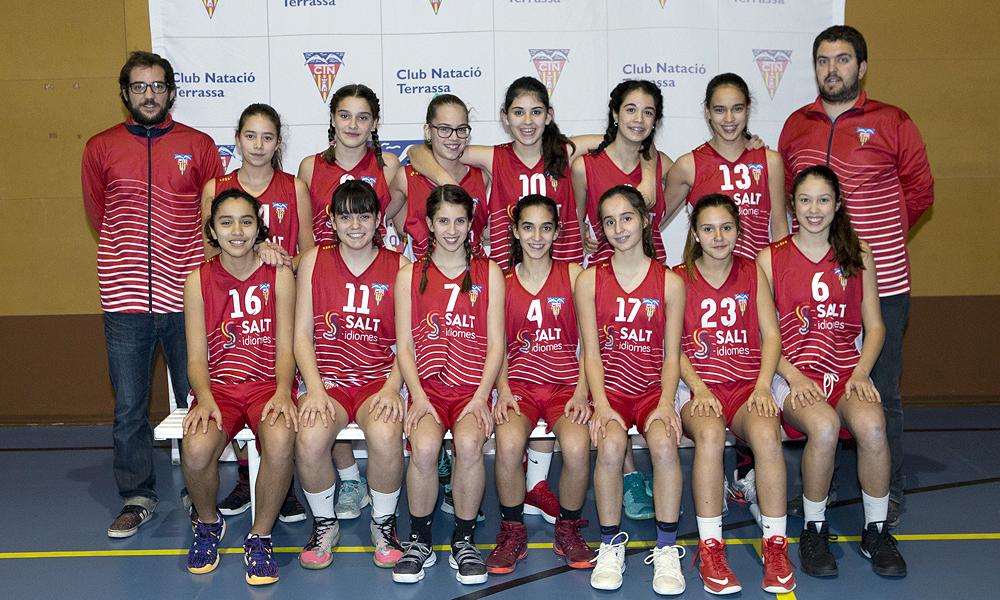 Equip de Bàsquet Infantil Femení B del Club Natació Terrassa