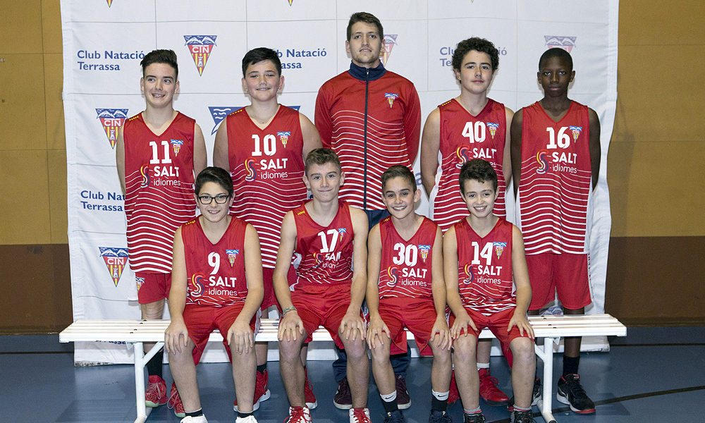 Equip de Bàsquet Infantil Masculí B del Club Natació Terrassa