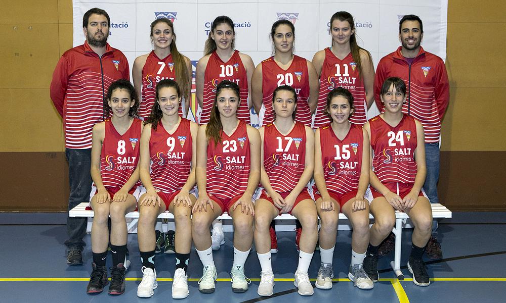 Equip de Bàsquet Júnior Femení A del Club Natació Terrassa