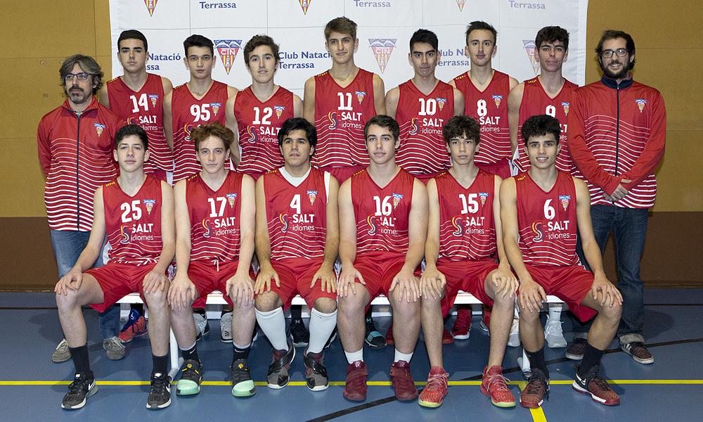 Equip de Bàsquet Júnior Masculí B del Club Natació Terrassa