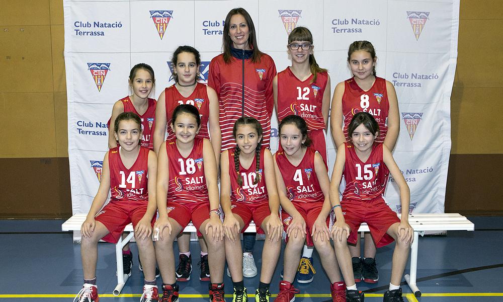 Equip de Bàsquet Mini Femení A del Club Natació Terrassa