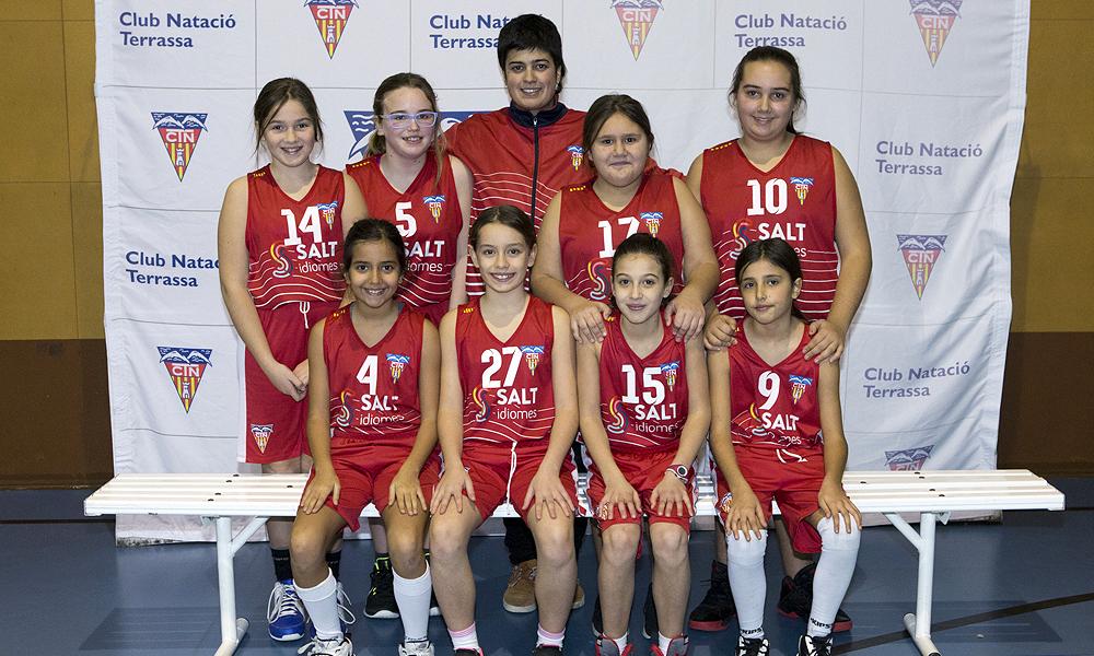 Equip de Bàsquet Mini Femení B del Club Natació Terrassa