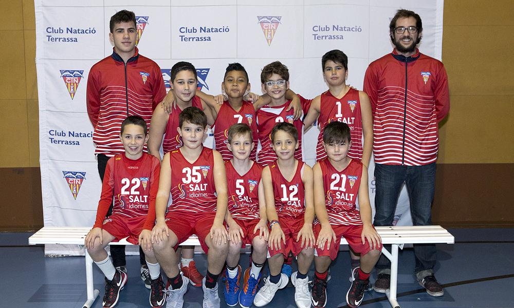 Equip de Bàsquet Mini Masculí B del Club Natació Terrassa