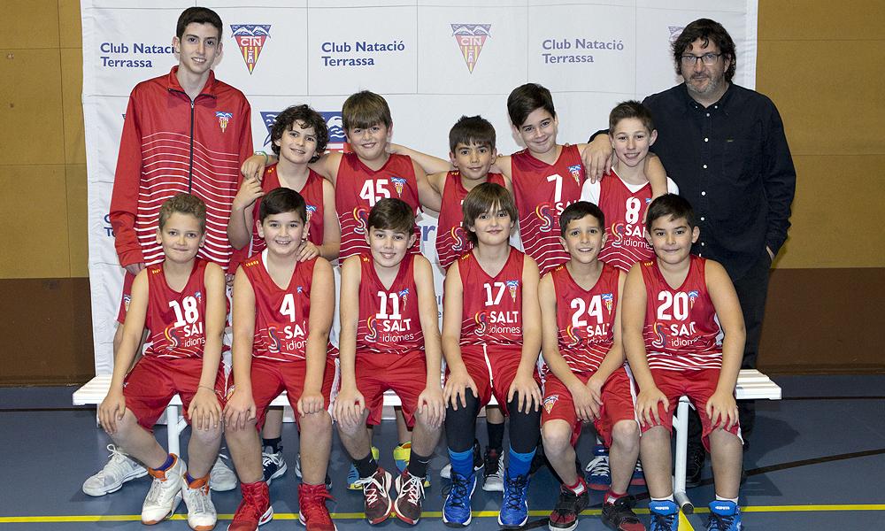 Equip de Bàsquet Mini Masculí C del Club Natació Terrassa