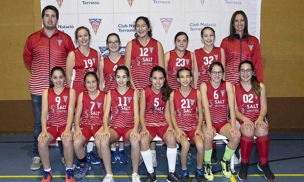 Equip de Bàsquet Preinfantil Femení A del Club Natació Terrassa