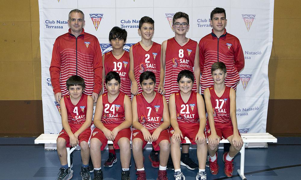 Equip de Bàsquet Preinfantil Masculí B del Club Natació Terrassa