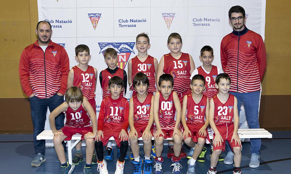 Equip de Bàsquet Premini Masculí A del Club Natació Terrassa