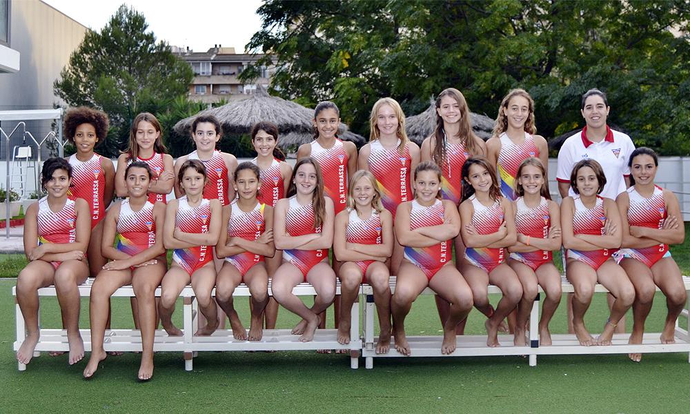 Equip de Waterpolo Aleví Femení del Club Natació Terrassa