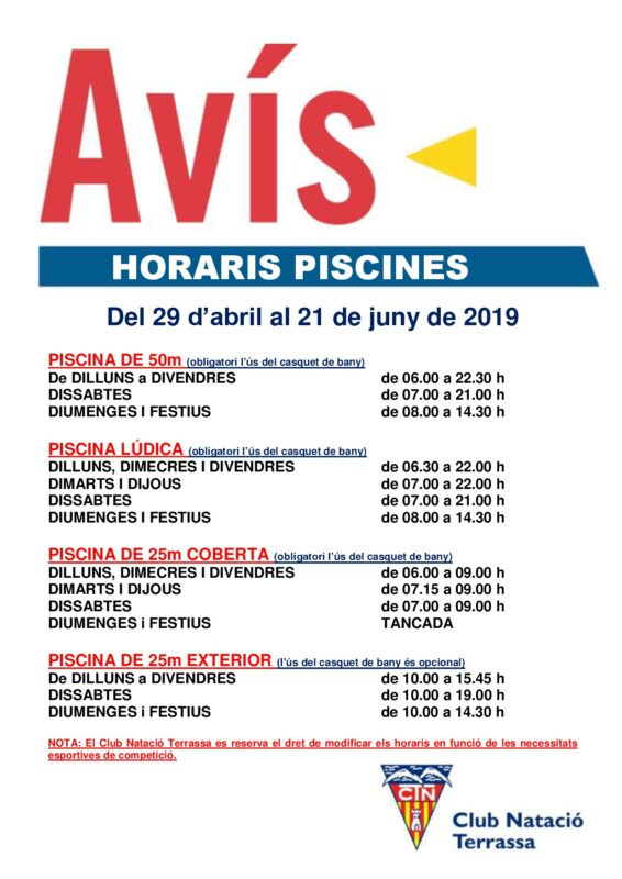 Avis_horaris_piscines_29_abriL_21_juny_2019